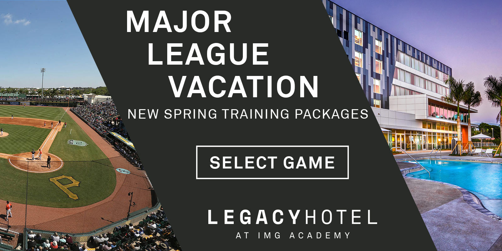 Book your Major League Vacation now
